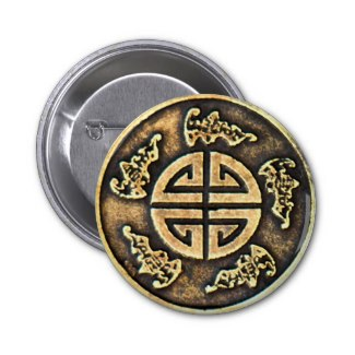 5 Virtues Talisman 2 Inch Round Button