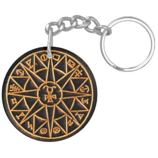 Mercury Talisman Double-Sided Round Acrylic Keychain